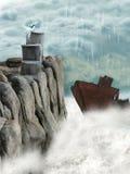 Roestig schip stock fotografie