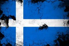 Roestig Shetland en grunge vlagillustratie stock illustratie