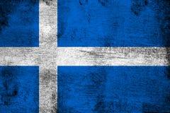 Roestig Shetland en grunge vlagillustratie vector illustratie