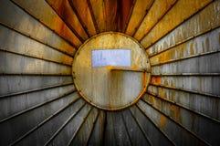 Roestig steel textuur van een opslagtank Stock Afbeelding