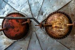 Roestig steel textuur van een opslagtank Royalty-vrije Stock Afbeeldingen