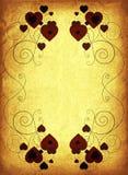Roestig valentijnskaartframe royalty-vrije illustratie