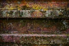 Roestige aangetaste de textuurachtergrond van de metaaldeur Stock Fotografie