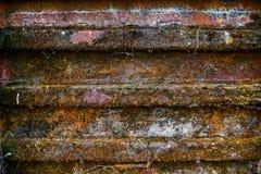 Roestige aangetaste de textuurachtergrond van de metaaldeur Stock Foto