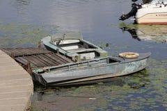 Roestige boten royalty-vrije stock foto's