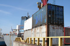 Roestige Container Stock Foto