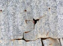 Roestige de muurtextuur van het metaalblad voor achtergrond Stock Foto