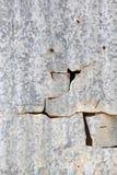Roestige de muurtextuur van het metaalblad voor achtergrond Royalty-vrije Stock Afbeeldingen