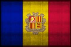 Roestige de vlagillustratie van Andorra vector illustratie