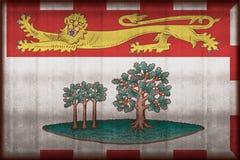 Roestige de vlagillustratie van Prins Edward Eilanden stock illustratie