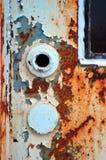 Roestige deur Stock Foto