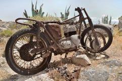 Roestige fiets Royalty-vrije Stock Fotografie