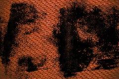 Roestige gekleurde textuur of de achtergrond van de Grunge de vuile Stof Stock Afbeelding