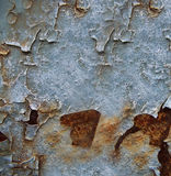 Roestige geschilderde oppervlakte Stock Foto