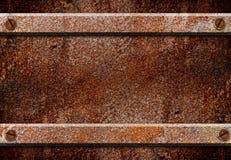 Roestige het metaalplaat van Grunge Stock Afbeeldingen