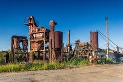 Roestige industriële bouw Royalty-vrije Stock Afbeeldingen