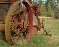 Roestige landbouwbedrijfmachines Stock Fotografie