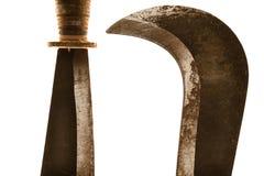 Roestige machete Royalty-vrije Stock Fotografie