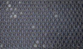 Roestige metaal en glastextuur als achtergrond stock afbeelding