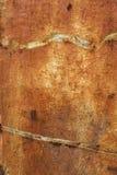 Roestige metaal grunge achtergrond stock afbeelding