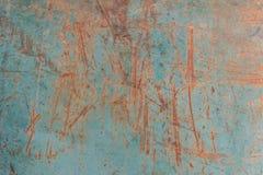 Roestige metaal grunge achtergrond en kras Royalty-vrije Stock Afbeeldingen