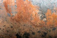 Roestige metaalachtergrond stock afbeeldingen
