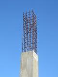 Roestige metaalbouw, cement, Stock Foto