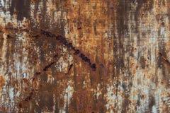 Roestige metaaloppervlakte Stock Afbeeldingen