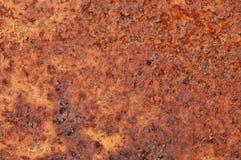 Roestige metaaloppervlakte Stock Foto
