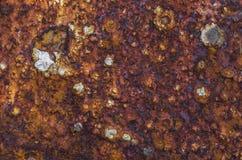 Roestige metaaloppervlakte Royalty-vrije Stock Foto