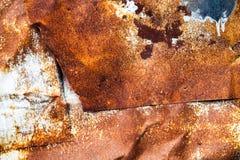 Roestige metaaloppervlakte Royalty-vrije Stock Foto's