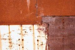 Roestige metaaloppervlakte Stock Afbeelding