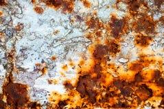 Roestige metaaloppervlakte Royalty-vrije Stock Afbeeldingen