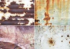 Roestige metaaloppervlakten stock foto