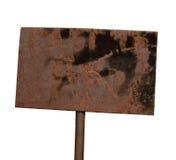 Roestige metaalplaat stock afbeelding