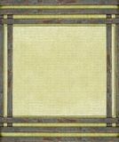 Roestige metaalstaven op oud canvas Royalty-vrije Stock Afbeeldingen