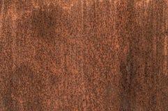 Roestige metaaltextuur, corrosieve muurachtergrond Stock Foto's