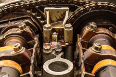Roestige motor Royalty-vrije Stock Foto's