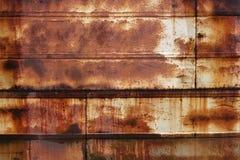 Roestige natte metalloppervlakte Royalty-vrije Stock Afbeeldingen