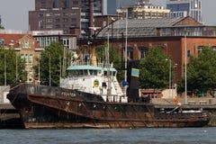 Roestige Oude Boot royalty-vrije stock fotografie