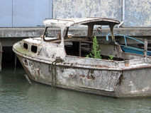 Roestige oude boot Stock Afbeelding