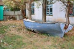 Roestige oude boot Royalty-vrije Stock Afbeeldingen