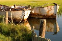Roestige oude boten Stock Foto