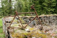 Roestige oude fiets Royalty-vrije Stock Afbeelding