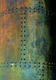 Roestige oude metaalachtergrond stock afbeeldingen