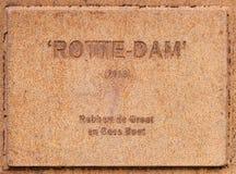 Roestige plaat Rotterdam stock foto's