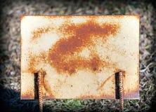 Roestige plaat van metaal, grunge Royalty-vrije Stock Foto