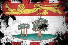 Roestige Prins Edward Eilanden en grunge vlagillustratie stock illustratie