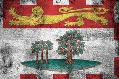 Roestige Prins Edward Eilanden en grunge vlagillustratie vector illustratie