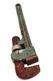 Roestige regelbare moersleutel Royalty-vrije Stock Fotografie